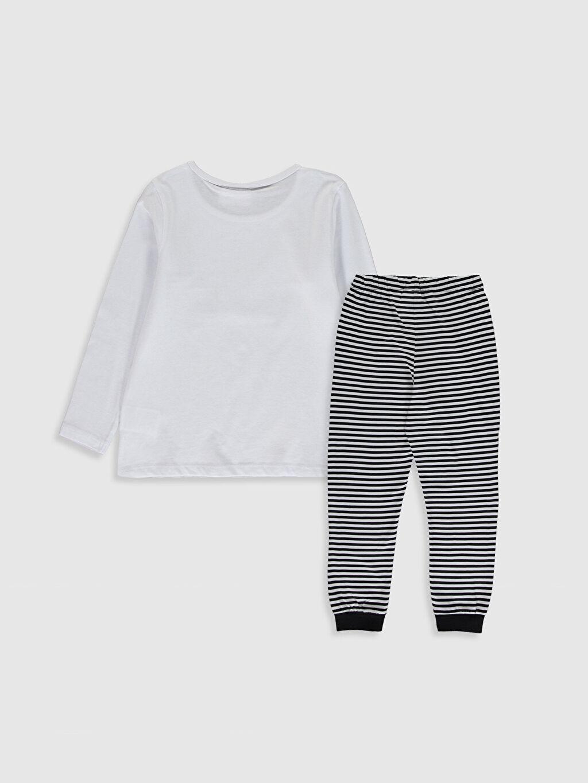 %100 Pamuk Standart Pijamalar Kız Çocuk Bugs Bunny Pamuklu Pijama Takımı