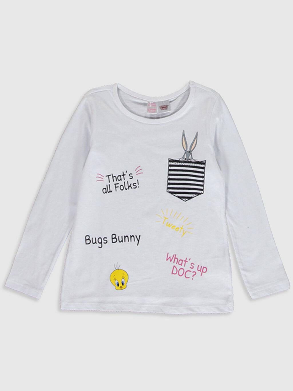 Kız Çocuk Kız Çocuk Bugs Bunny Pamuklu Pijama Takımı