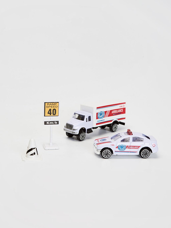 METAL+Plastik  Erkek Çocuk Oyuncak Ambulans Seti