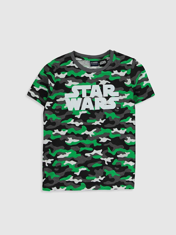 Yeşil Erkek Çocuk Star Wars Baskılı Pamuklu Tişört 9WU808Z4 LC Waikiki