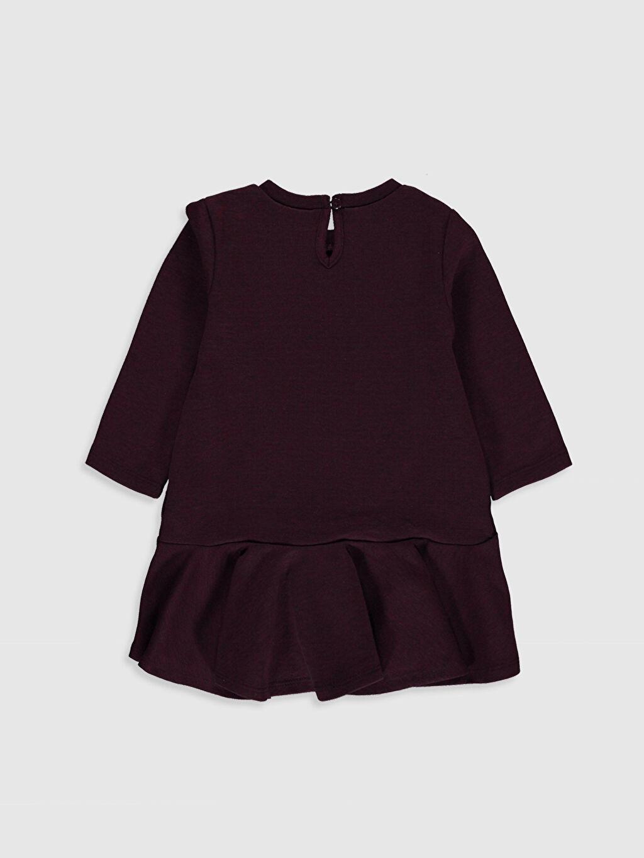 %38 Pamuk %62 Polyester Diz Üstü Düz Kız Çocuk Basic Elbise