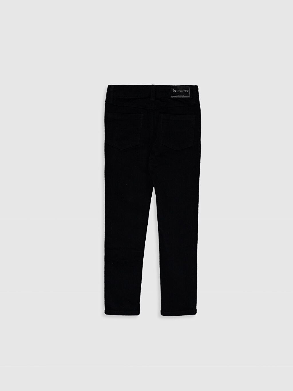 %98 Pamuk %2 Elastan Normal Bel Standart Kız Çocuk Skinny Pantolon