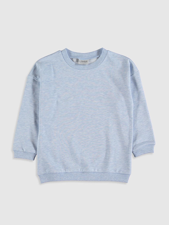 Mavi Kız Çocuk Düz Sweatshirt 9WY192Z4 LC Waikiki