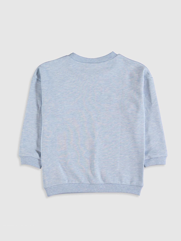 %63 Pamuk %37 Polyester  Kız Çocuk Düz Sweatshirt