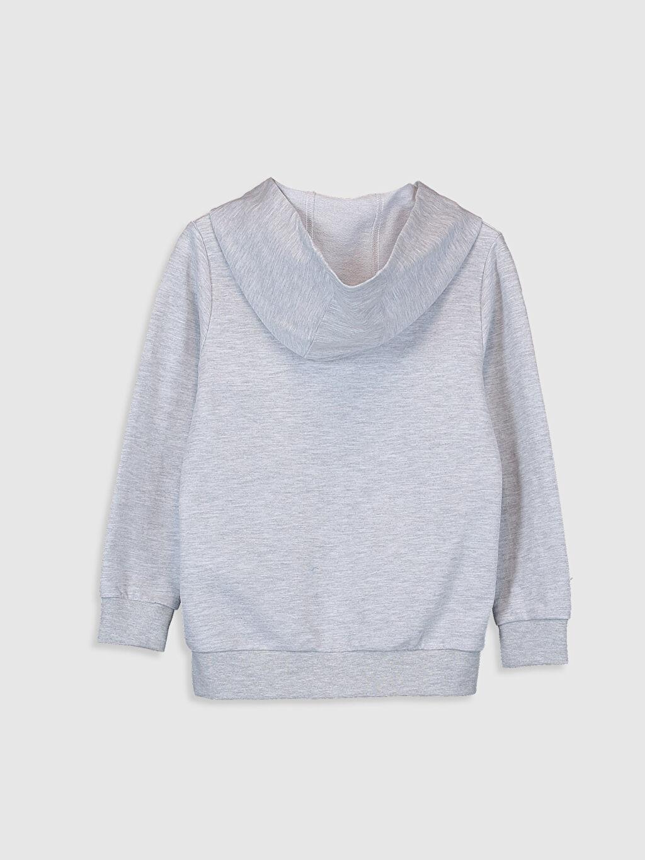 %60 Pamuk %40 Polyester  Erkek Çocuk Baskılı Kapüşonlu Sweatshirt