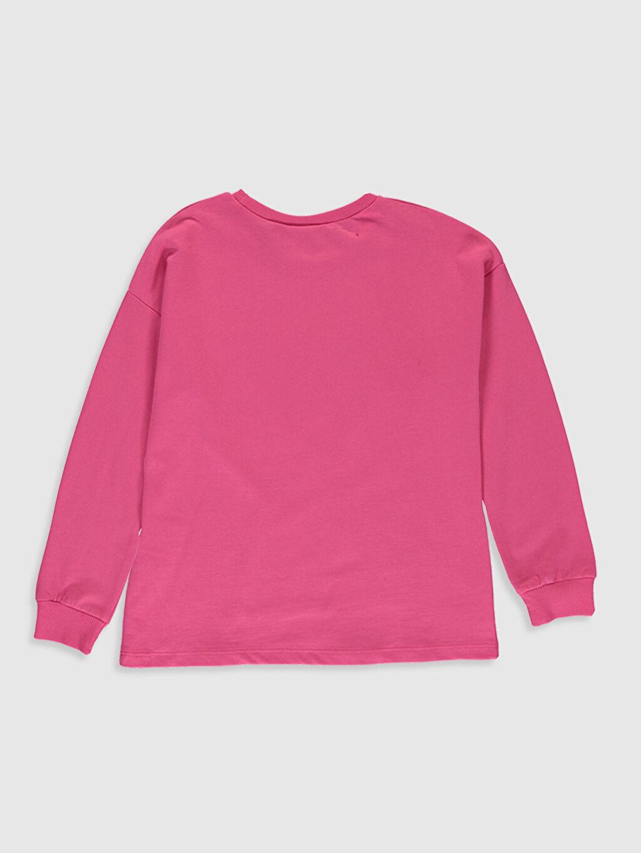 %100 Pamuk  Kız Çocuk Nasa Baskılı Sweatshirt