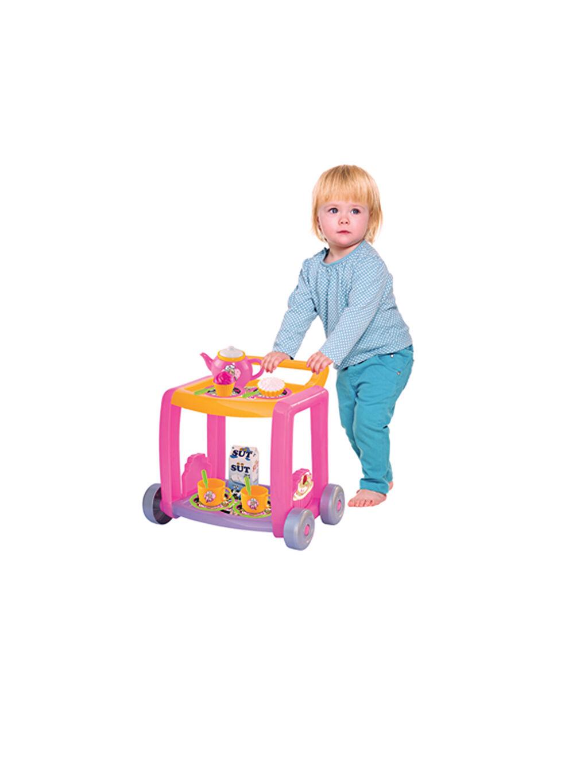 Kız Çocuk Dede Barbie Çay Servis Arabası