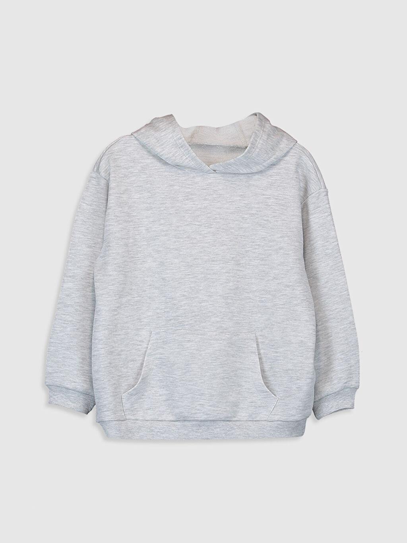 Gri Kız Çocuk Kapüşonlu Sweatshirt 9WA436Z4 LC Waikiki