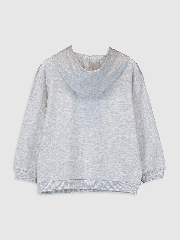 %63 Pamuk %37 Polyester  Kız Çocuk Kapüşonlu Sweatshirt