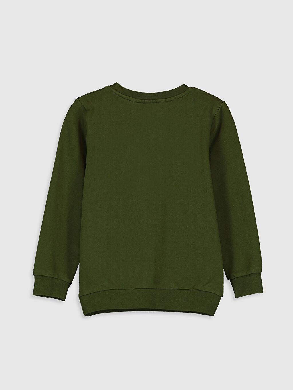 %100 Pamuk  Erkek Çocuk Simpson Baskılı Sweatshirt