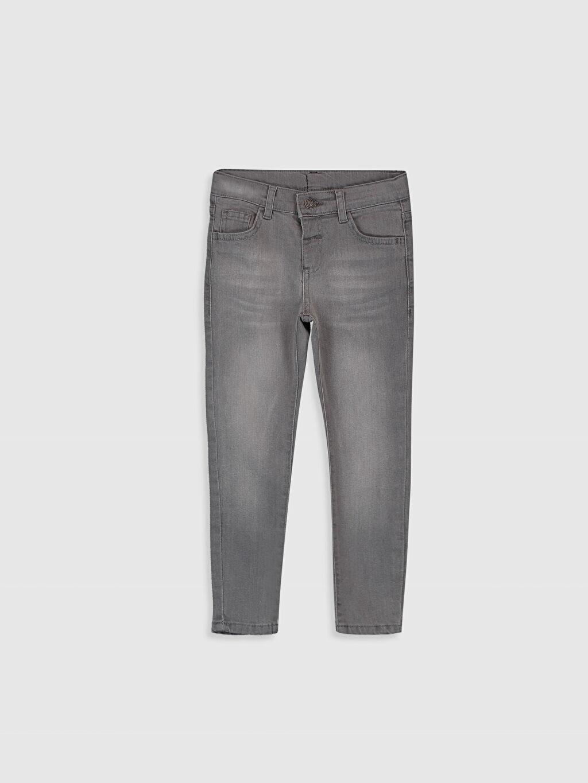 Gri Erkek Çocuk Super Skinny Jean Pantolon 9WA867Z4 LC Waikiki
