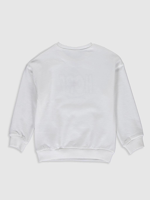 %85 Pamuk %15 Polyester  Kız Çocuk Nakışlı Sweatshirt