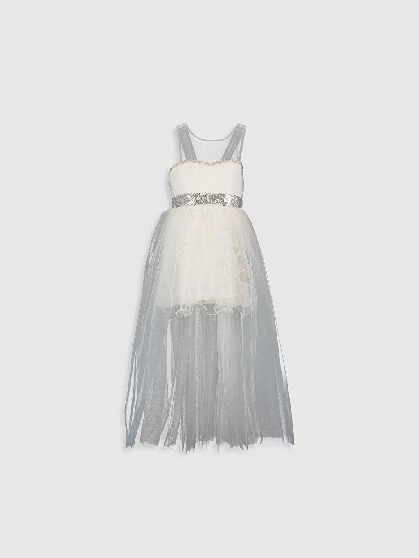 Beyaz Daisy Girl Kız Çocuk Kuyruklu Abiye Elbise 9WB668Z4 LC Waikiki