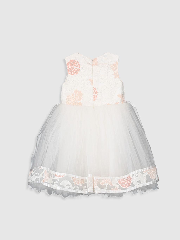 Diz Üstü Desenli Daisy Girl Kız Bebek Desenli Abiye Elbise