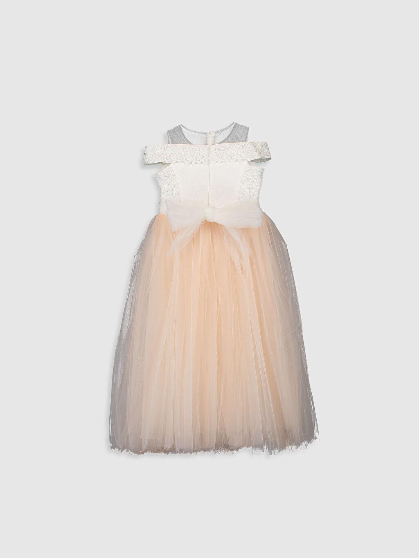 Uzun Düz Daisy Girl Kız Çocuk Dantel Detaylı Abiye Elbise