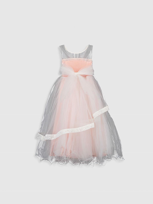 Düz Daisy Girl Kız Çocuk Dantel Detaylı Abiye Elbise