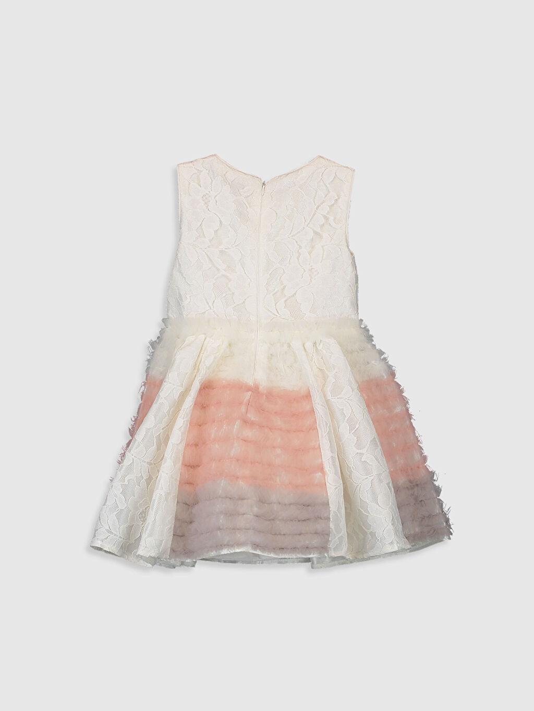 Diz Üstü Desenli Daisy Girl Kız Çocuk Dantel Detaylı Abiye Elbise