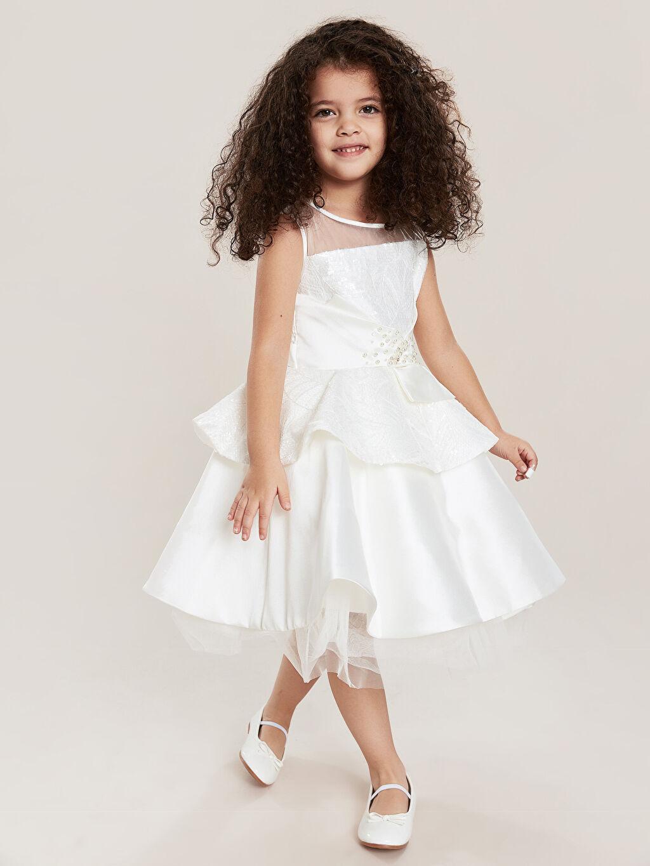 Kız Çocuk Daisy Girl Kız Çocuk Pul İşlemeli Abiye Elbise