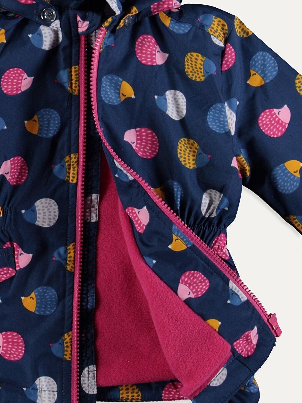 %100 Polyester Kız Bebek Puantiyeli Mont