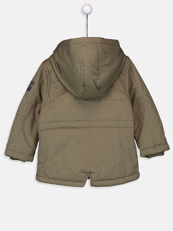 %100 Pamuk %100 Polyester Kaban Kalın Erkek Bebek Kapüşonlu Fermuarlı Kalın Kaban