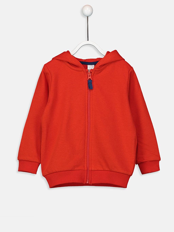 Kırmızı Erkek Bebek Fermuarlı Sweatshirt 9W0622Z1 LC Waikiki