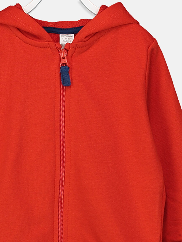 Erkek Bebek Erkek Bebek Fermuarlı Sweatshirt