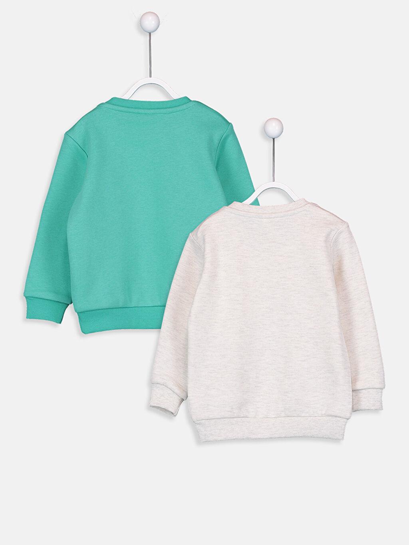 %66 Pamuk %34 Polyester  Erkek Bebek Sweatshirt 2'li