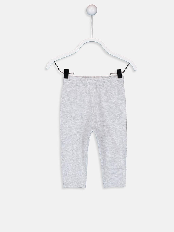 LC Waikiki Mercan Kız Bebek Pamuklu Baskılı Pijama Takımı 3'lü