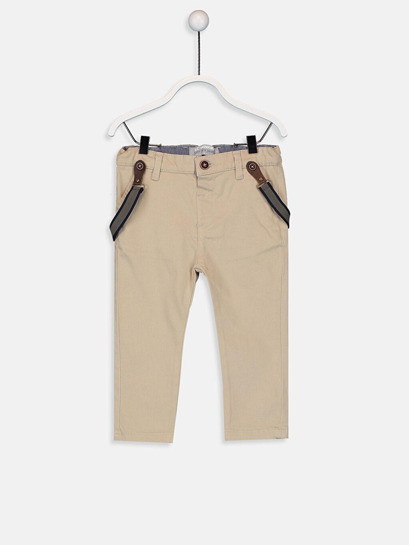 Bej Erkek Bebek Pantolon ve Pantolon Askısı 9W1547Z1 LC Waikiki