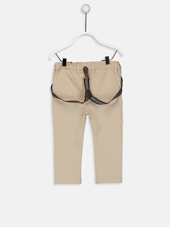 %98 Pamuk %2 Elastan %77 Polyester %23 ELASTODİEN Dar Erkek Bebek Pantolon ve Pantolon Askısı