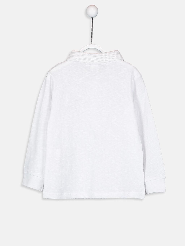 %100 Pamuk Uzun Kol Diğer Normal Tişört Erkek Bebek Aplike Tişört