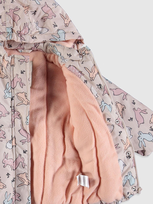 %100 Polyester Kız Bebek Desenli Mont