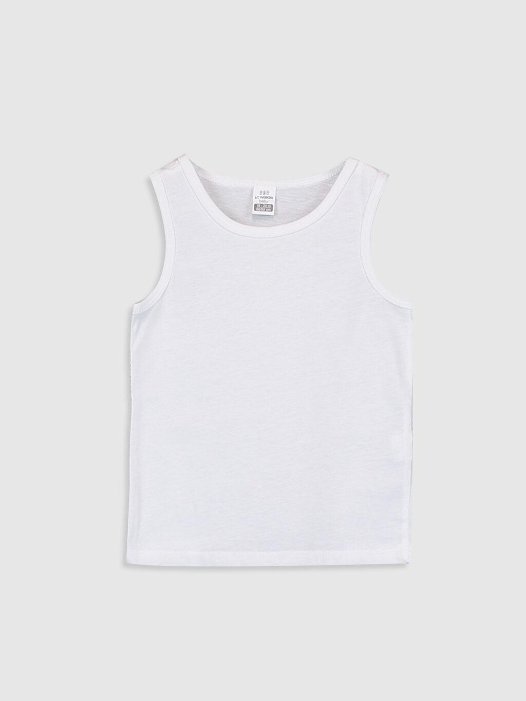 %100 Pamuk İç Giyim Üst Standart Erkek Bebek Atlet 2'li