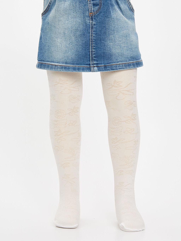 %90 Poliamid %10 Elastan  Kız Bebek Külotlu Çorap
