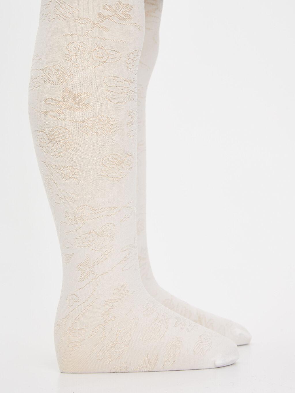 LC Waikiki Beyaz Kız Bebek Külotlu Çorap