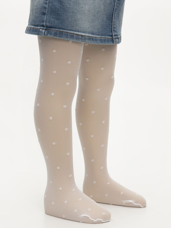 %62 Poliamid %24 Metalik iplik %14 Elastan  Kız Bebek Külotlu Çorap 2'li