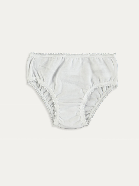 %100 Pamuk Standart İç Giyim Alt Kız Bebek Külot 3'lü