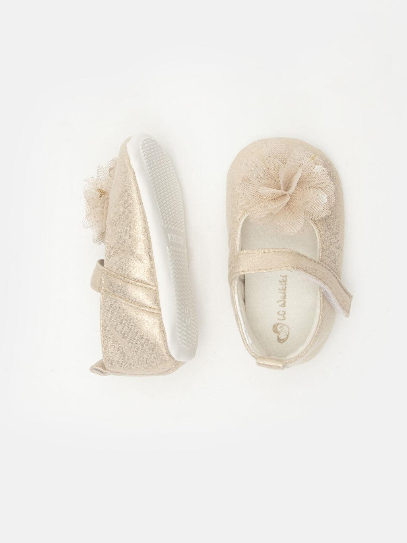 Kız Bebek Kız Bebek Cırt Cırtlı Ayakkabı ve Saç Bandı
