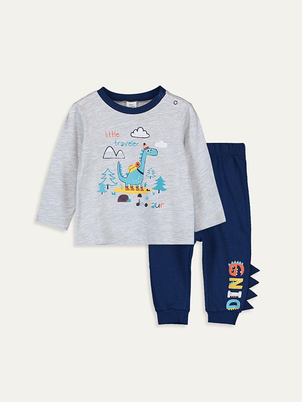 Gri Erkek Bebek Pijama Takımı 9W3588Z1 LC Waikiki