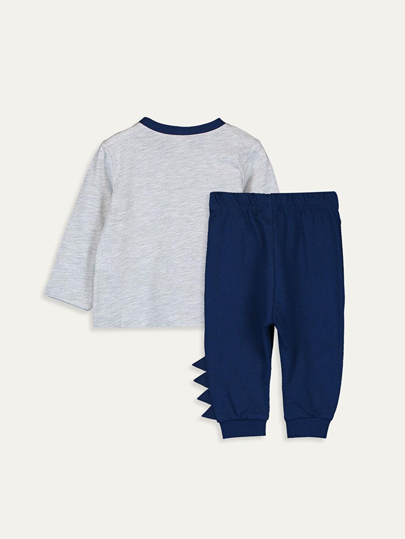 %98 Pamuk %2 Polyester Standart Pijamalar Erkek Bebek Pijama Takımı