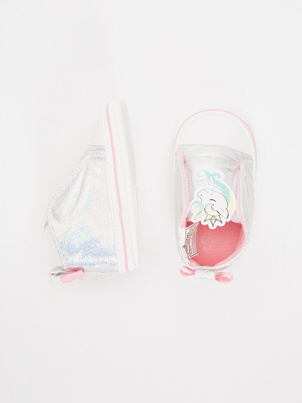 %0 Diğer malzeme (poliüretan) %0 Tekstil malzemeleri (%100 poliester)  Kız Bebek Parlak Unicorn Ayakkabı