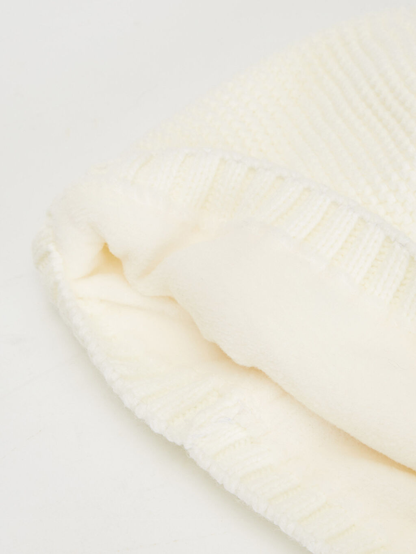 %100 Akrilik %100 Polyester  Kız Bebek Triko Bere