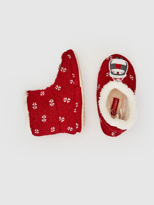 %0 Tekstil malzemeleri (%100 poliester)  Kız Bebek Pelüş Panduf