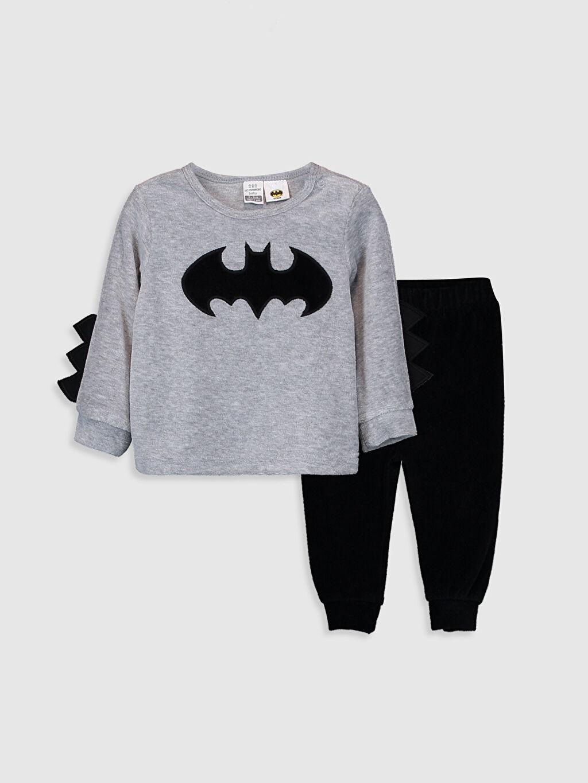 Siyah Erkek Bebek Batman Baskılı Pijama Takımı 9W6123Z1 LC Waikiki