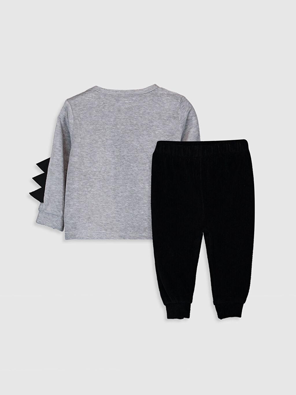 %79 Pamuk %21 Polyester Standart Pijamalar Erkek Bebek Batman Baskılı Pijama Takımı