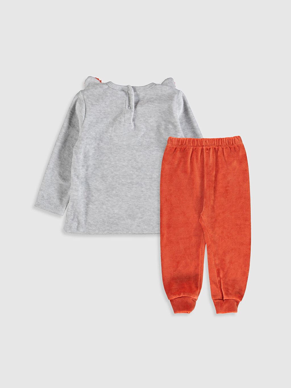 %54 Pamuk %46 Polyester Standart Pijamalar Erkek Bebek Kadife Pijama Takımı