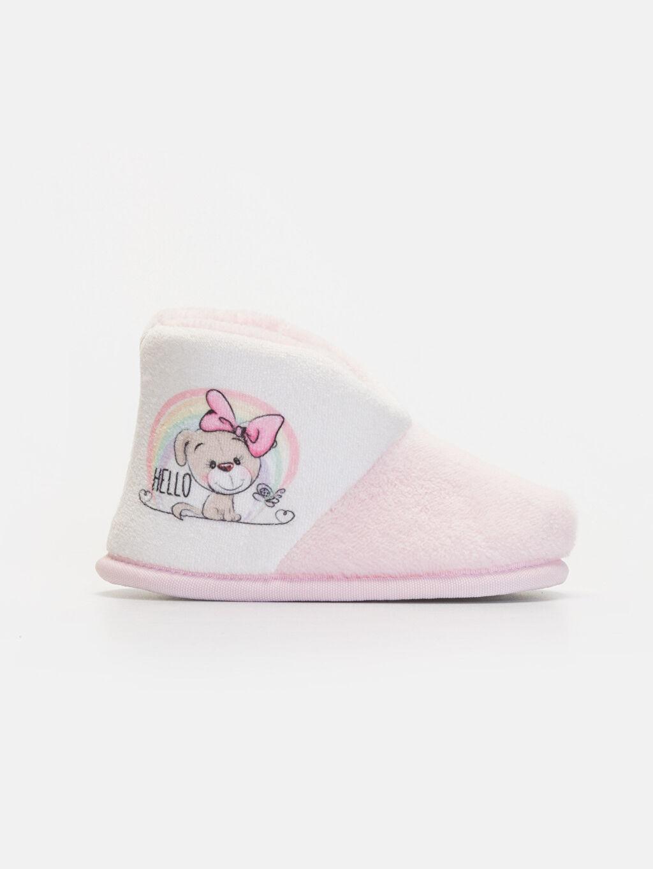 Pembe Kız Bebek Ev Ayakkabısı 9W6161Z1 LC Waikiki