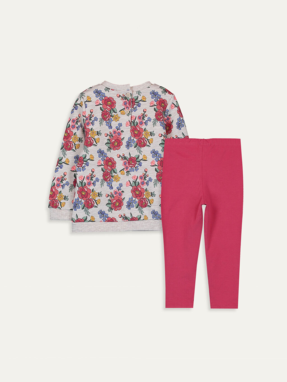 %49 Pamuk %51 Polyester %95 Pamuk %5 Elastan  Kız Bebek Takım 2'li