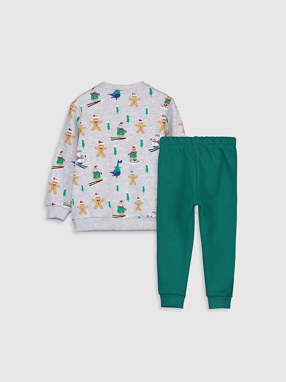 %61 Pamuk %38 Polyester %1 Viskoz  Erkek Bebek Eşofman Takımı