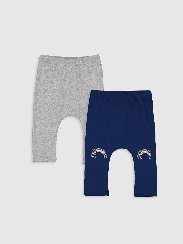 Gri Kız Bebek Pantolon 2'li 9W7562Z1 LC Waikiki